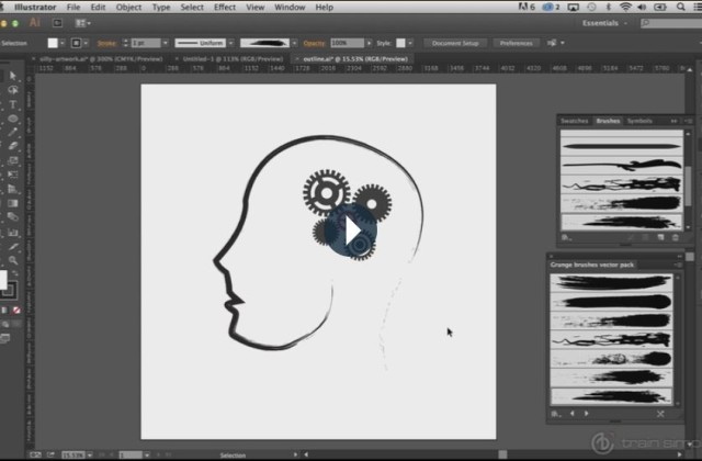 Adobe Illustrator Beginner Tutorials: How to Use the Adobe Illustrator Brushes