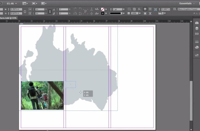 Adobe InDesign CC for Beginners: How to Bring in images and create graphics