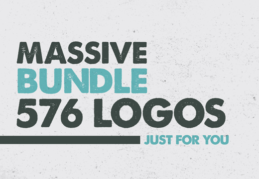 Massive Bundle with 576 Logos (50% off)