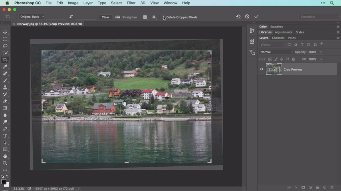 How To crop and Straighten Images in Photoshop