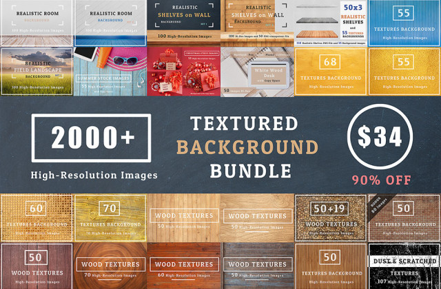2000+ Textures Background Bundle – From Visual Hierarchy