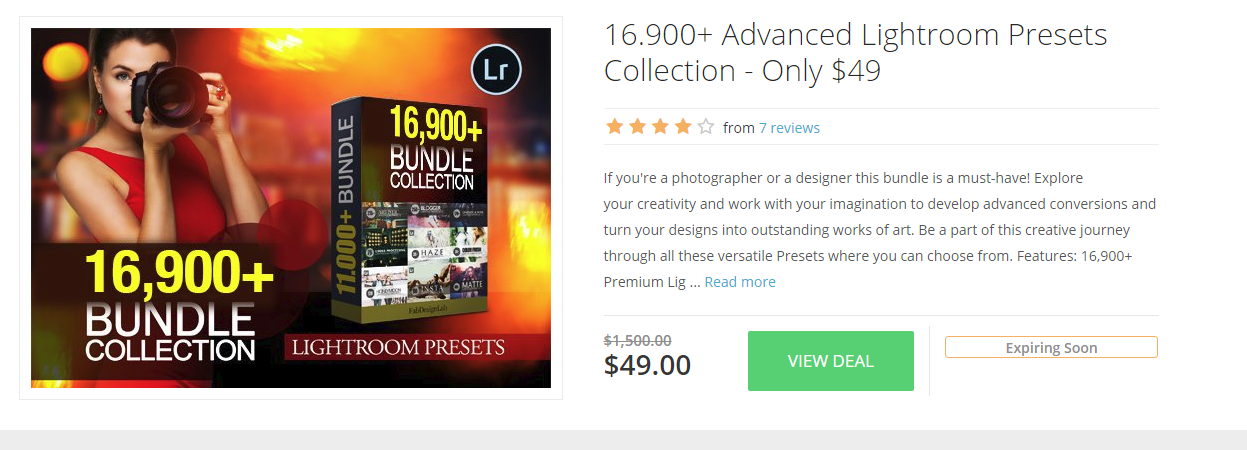 16000+ Advanced Lightroom Presets Collection – Only $49 – InkyDeals