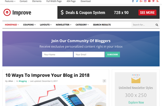 Improve WordPress Theme By Happy Themes