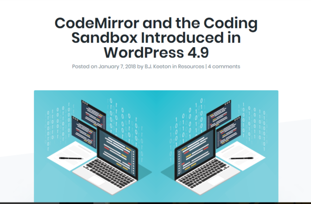 WordPress 4.9 Adds CodeMirror and the Coding Sandbox the WordPress Core Code
